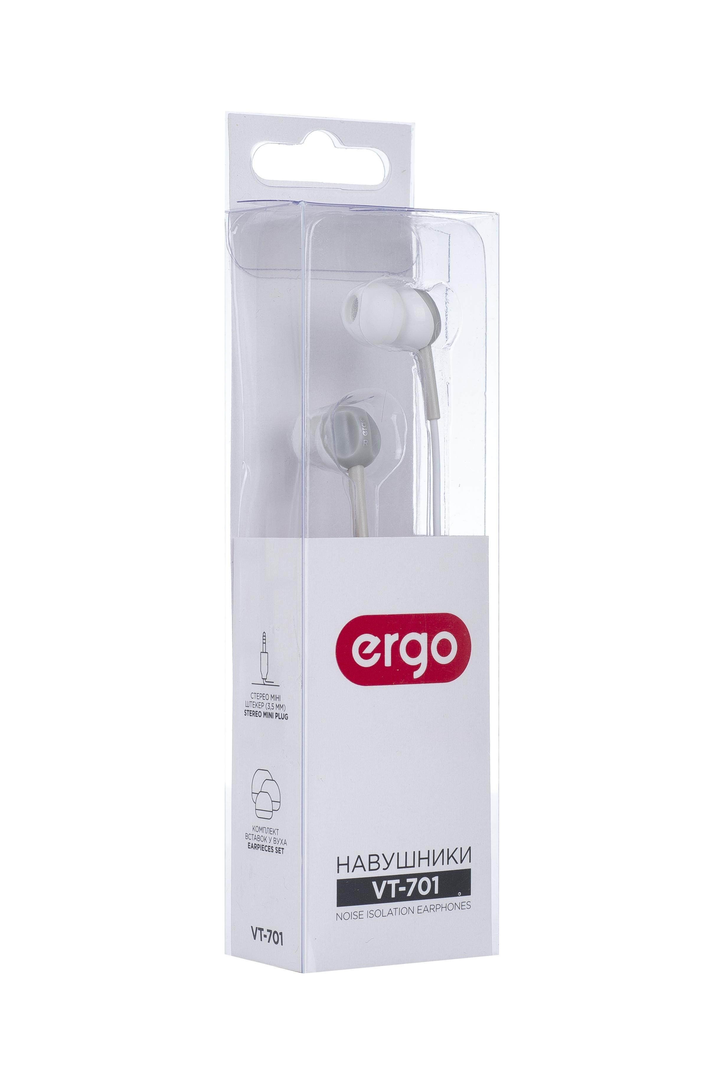 Навушники ERGO VT-701 White  опис a34e06a0ff8f2