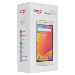 Смартфон ERGO Power A553 Dual Sim Gold