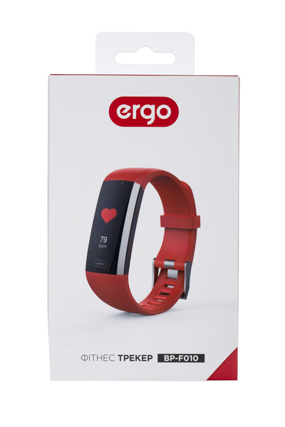 Фітнес трекер ERGO Fit Band HR BP F010 Red зображення 6