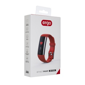 Фітнес трекер ERGO Fit Band HR BP F010 Red зображення 7