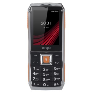 Мобільний телефон ERGO F246 Shield Dual Sim Black/Orange