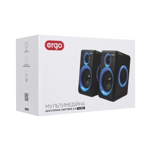 Мультимедийная акустика ERGO S-165 USB 2.0 Blue/black