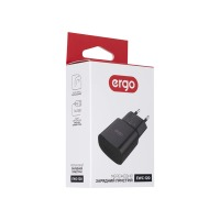 Мережева зарядка ERGO EWC-120 1xUSB Wall Charger Black