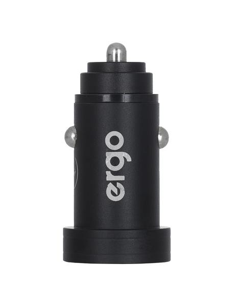 Автозарядка ERGO ECC-224 Mini 2.4A 2xUSB Car Charger Black зображення 3