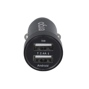 Автозарядка ERGO ECC-224 Mini 2.4A 2xUSB Car Charger Black зображення 5